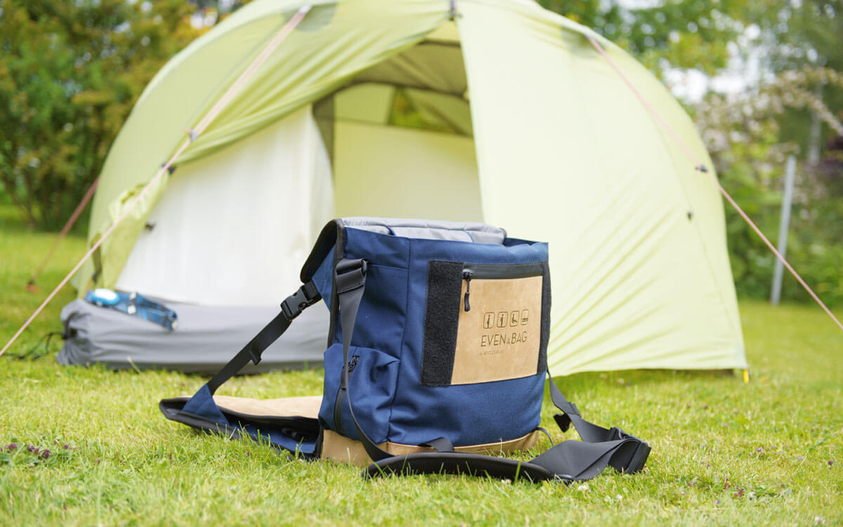 MSR tent meets camping chair and camping bag EVENaBAG