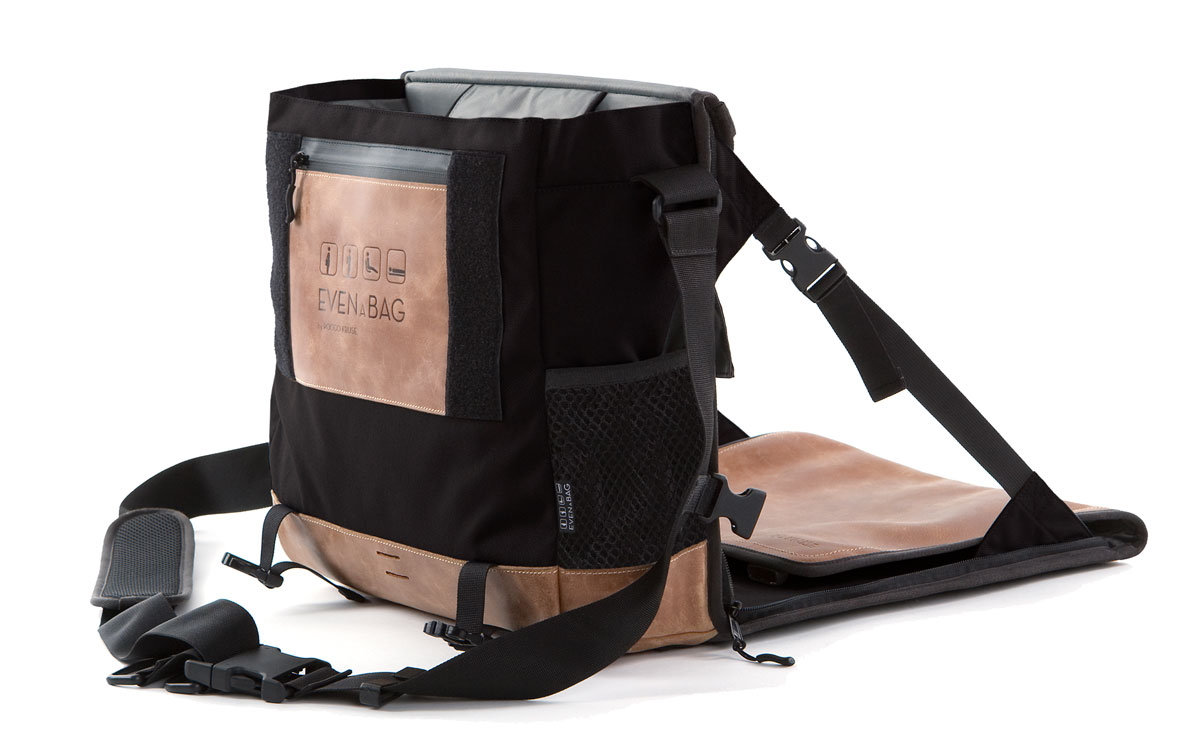 A tote bag and foldable camping chair