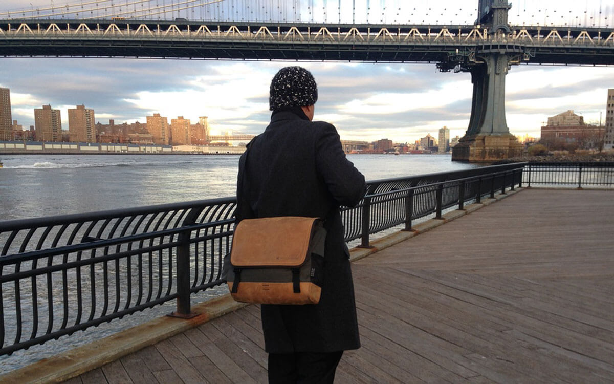 Leather designer bag in New York