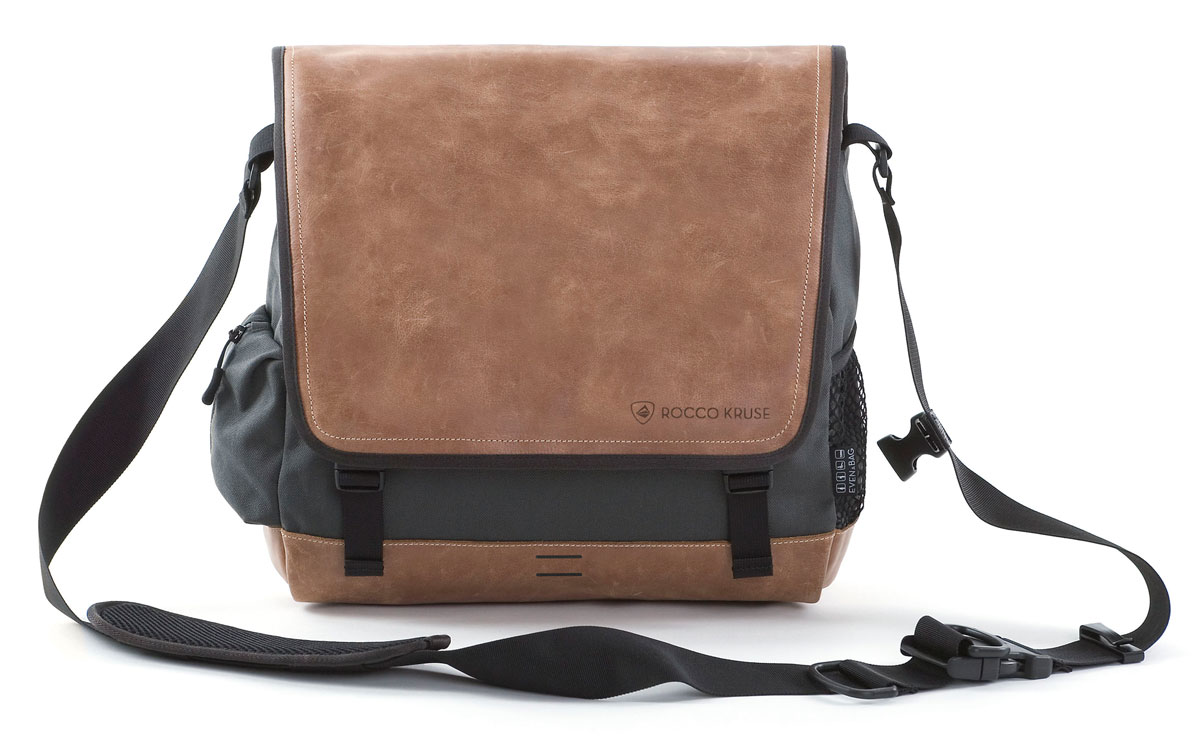A multifunctional leather laptop bag and seat