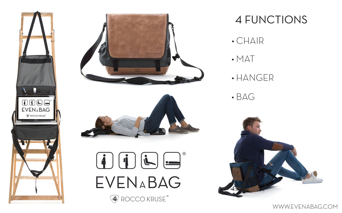 4 functions bag with camping chair and mat