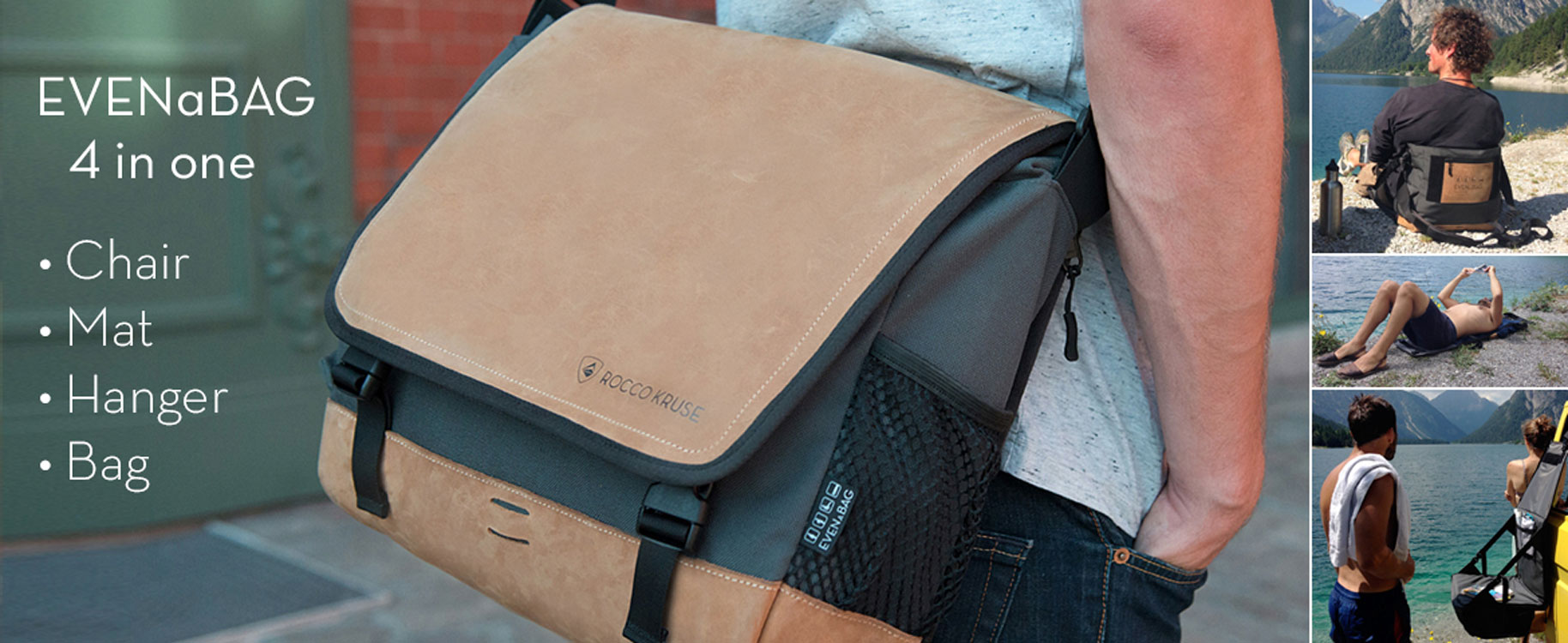 a multifunctional shoulder bag and camping chair