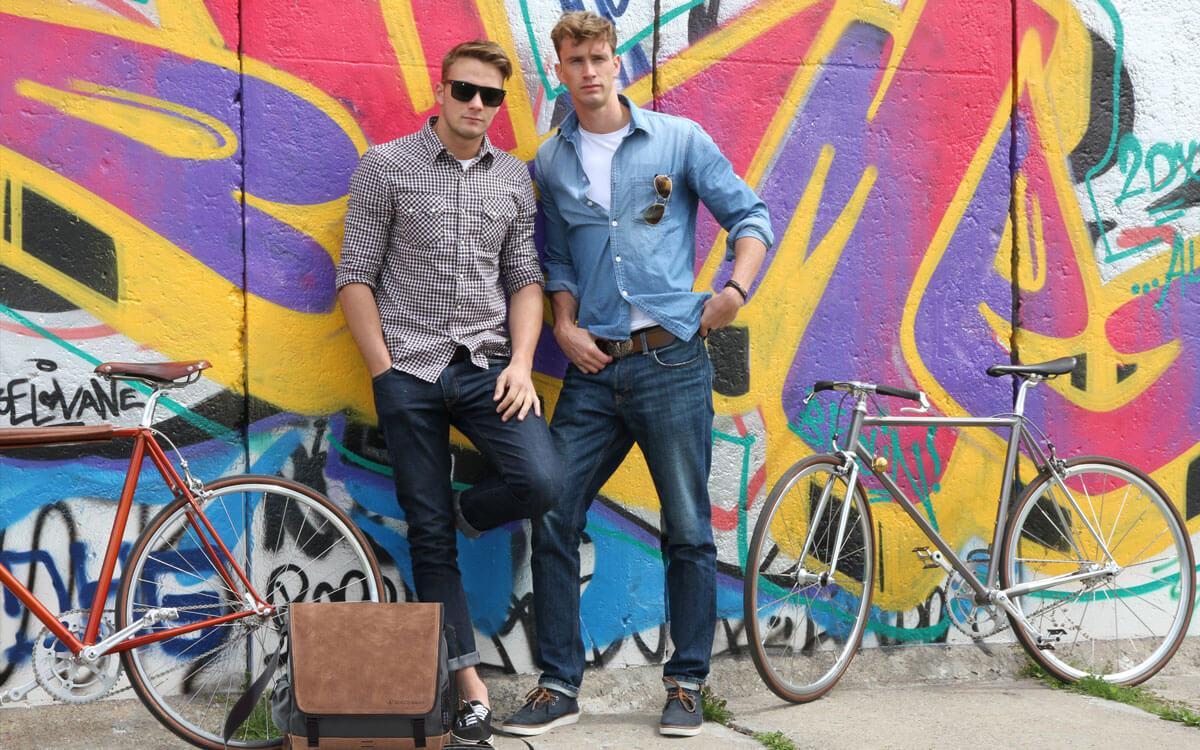 Multifunctional man bag and bicycle bag
