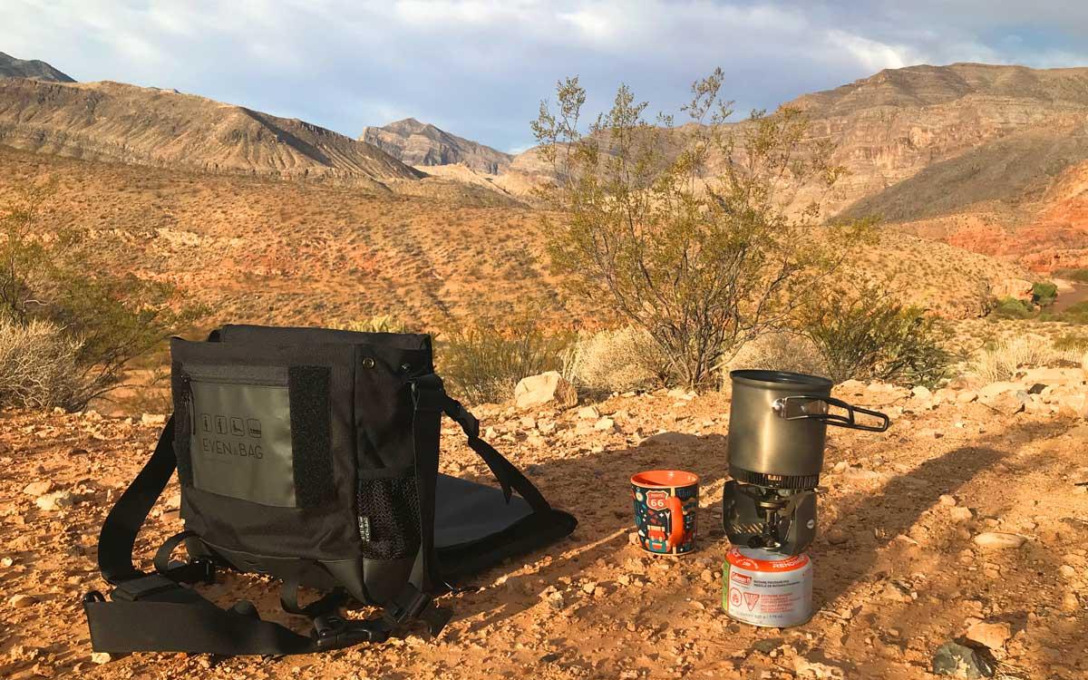 Mit EVENaBAG auf dem Campingplatz in Littlefield, Arizona - USA