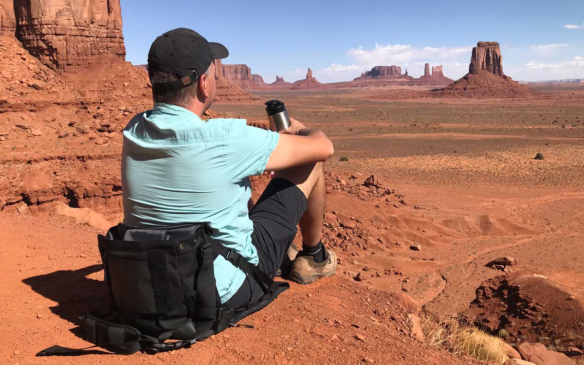 EVENaBAG is also a camping chair in Monument Valley