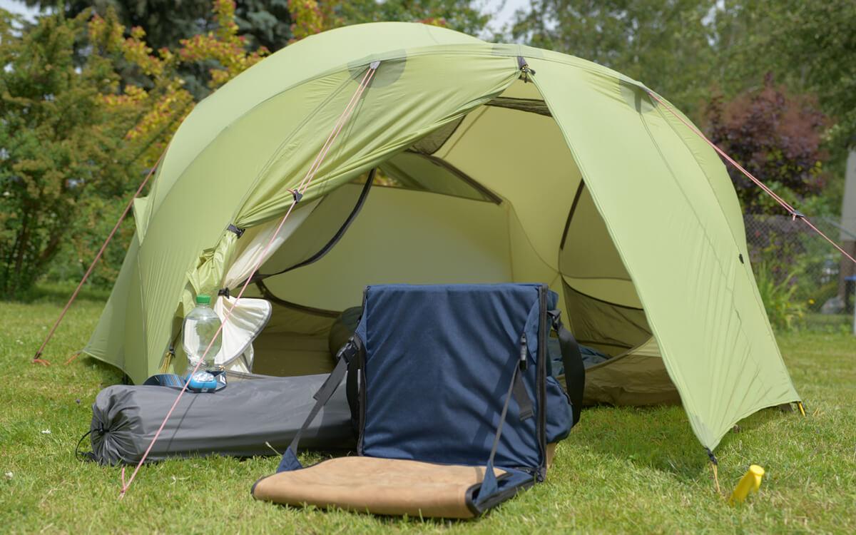 Oudoortasche mit Sitzfunktion ideal für Camping