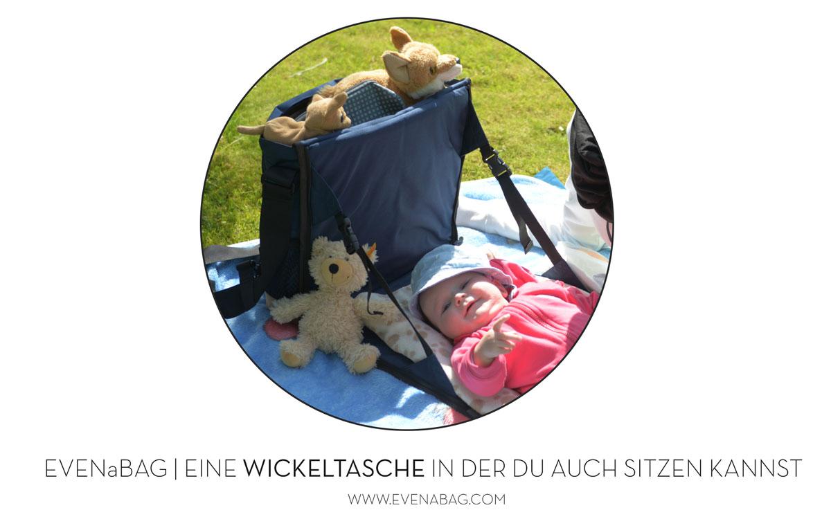 Umhängetasche verwandelbar in Baby Wickeltasche