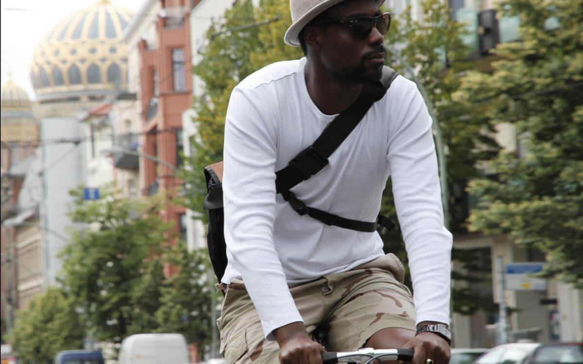 Eine Fahrradtasche mit vier Funktionen