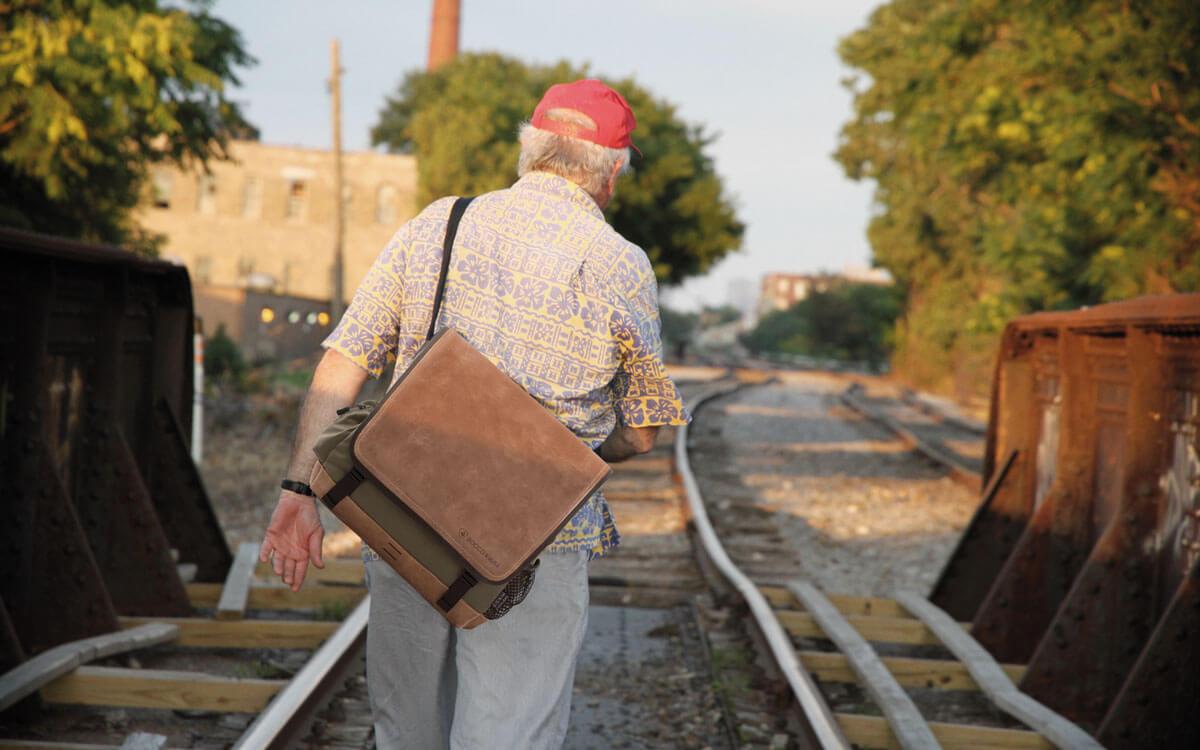 Eine Businesstasche und Reisetasche aus Leder
