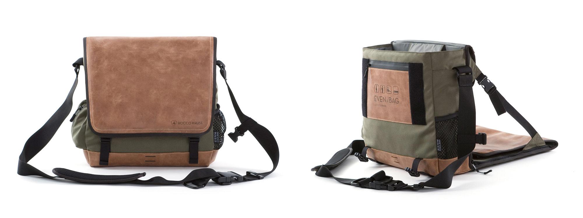 Eine Angeltasche in der man sitzen kann