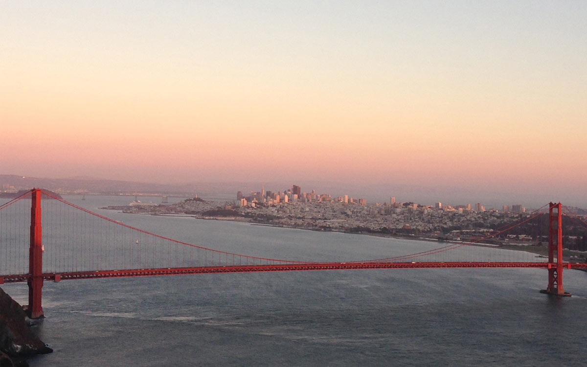 Outdoortasche für Reisen bis zur Golden Gate Brücke in San Francisco