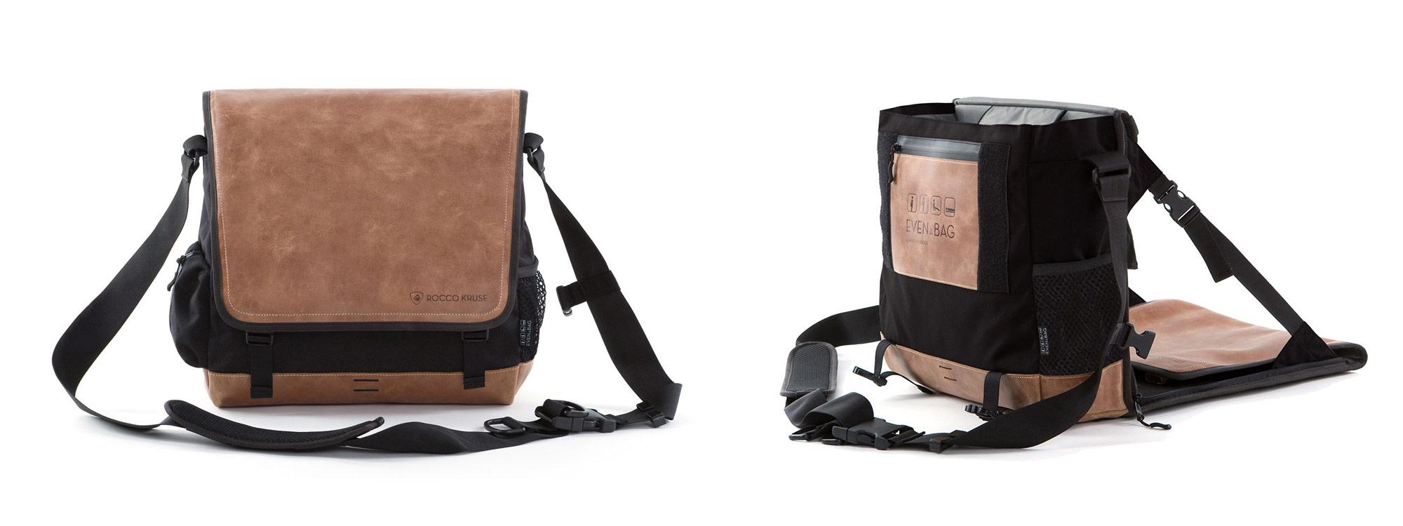 Eine Tasche und auch ein Angelstuhl und Strandsitz