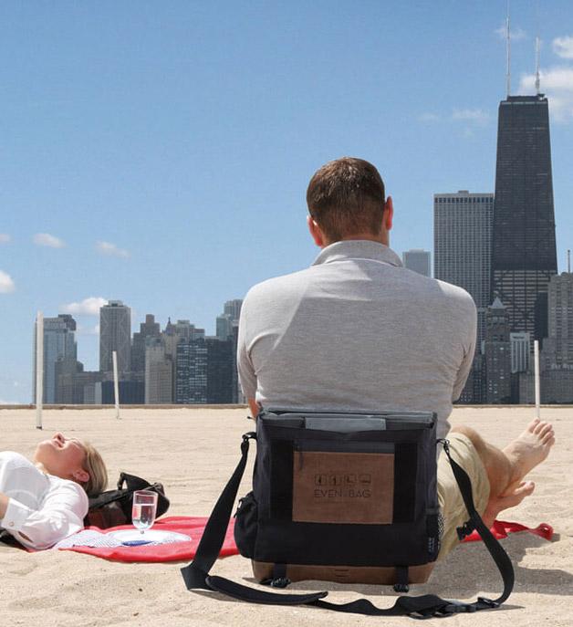 Campingsitz und Strandtasche in Chicago USA