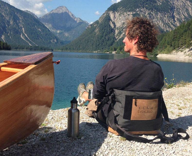 Mit EVENaBAG Kanu fahren am See in den USA